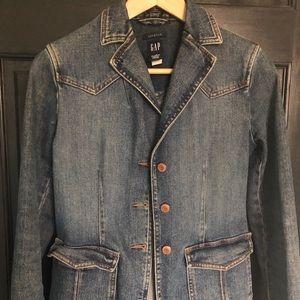 Gap western denim blazer jean coat xs
